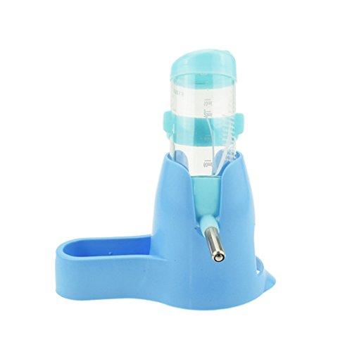 LQZ TM 3 in 1 Trinkflasche Futterspender Nager Wasser Spender für Kaninchen Chinchillas Hamster 80ml/125ml