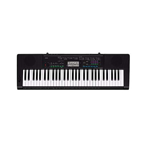 LINGLING-Tastatur Keyboard Musikinstrument für Kinder Erwachsene Anfänger Test 61-Tasten-Klavier (Farbe : SCHWARZ)