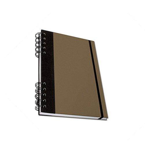 Cachet Studio - Skizzenbuch - 18 cm x 25,5 cm - Braun (Cachet-block)
