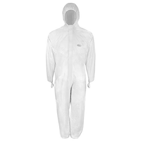 Einwegbekleidung | Chemieschutzoverall | CoverStar® mit Kapuze | weiß | Gr. XXL