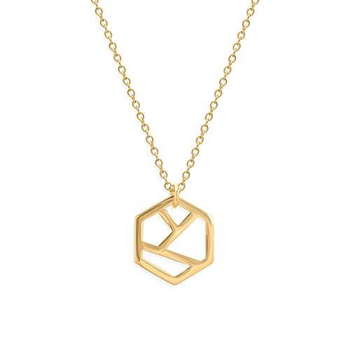 prettique Halskette Diamond aus 925 Sterlingsilber, 18 Karat vergoldet – 29 EUR (statt 39 EUR)