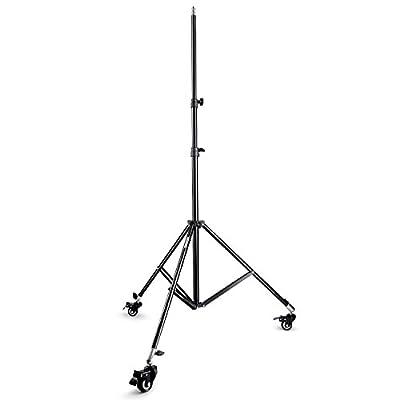 Neewer® Fotografie Studio max Höhe 200,7cm/200cm Licht stehen, mit Lenkrollen für Video, Hochformat und Fotografie Beleuchtung
