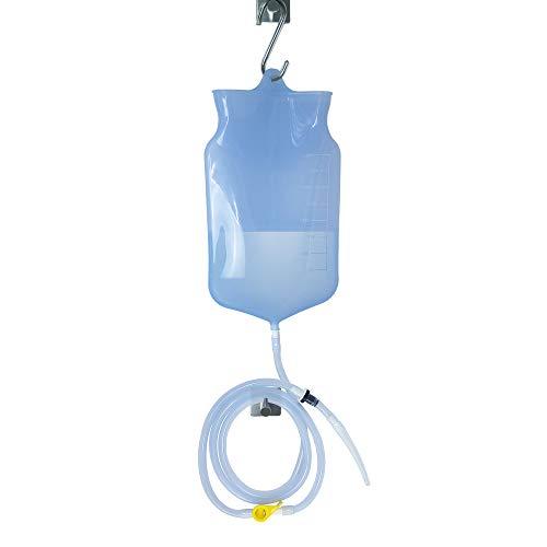 ZenMedix Premium Einlauf-Set (2 Liter) | Darmreinigungs-Set für Darmeinlauf | Einlaufbecher zur Reinigung des Darms | Komplettes Irrigator-Set für Darmeinlauf | Klistier-Einlauf