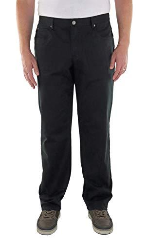 MARINA DEL REY Herren 5-Pocket Twill Hose Stretch in Comfort FIT Große Größen, Übergrößen, Big Size (62, Schwarz)