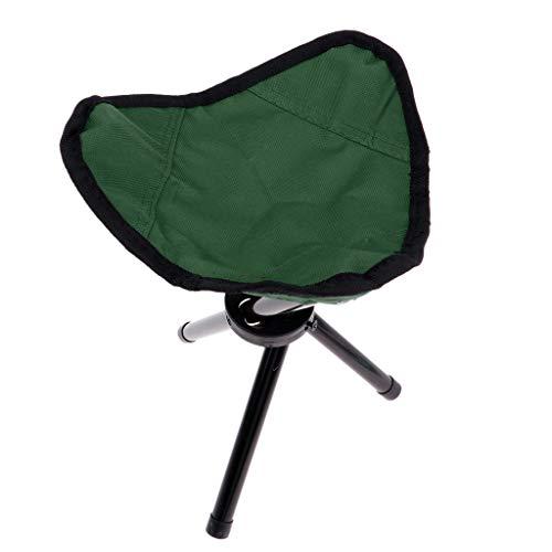 perfk Outdoor Hocker Klappbar Camping Stuhl Tragbar Klapphocker Faltstuhl - Grün