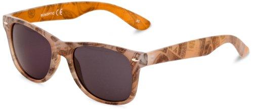 Sunoptic Damen Wayfarer Sonnenbrille Gr. Einheitsgröße, Orange - Orange Print