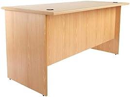 Mahmayi Metal/Wood Bess 140 Plain Office Desk 41 kg, BG140, Beige, H75 x W75 x D140 cm