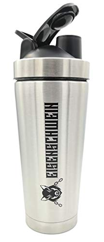 Eisenschwein Lifting Accessories Doppelwandiger isolierter Shaker Edelstahl 700ml BPA Frei Mixball -
