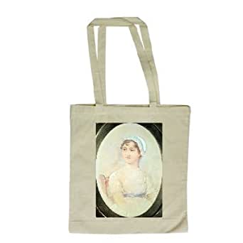 Portrait of Jane Austen (1775-1817) (w/c on.. - Long Handled Shopping Bag