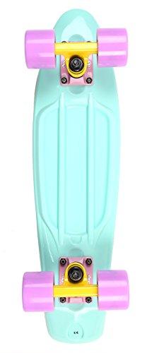 two-bare-feet-unisex-child-22-retro-plastic-cruiser-complete-skateboard-pastels-aqua-one-size