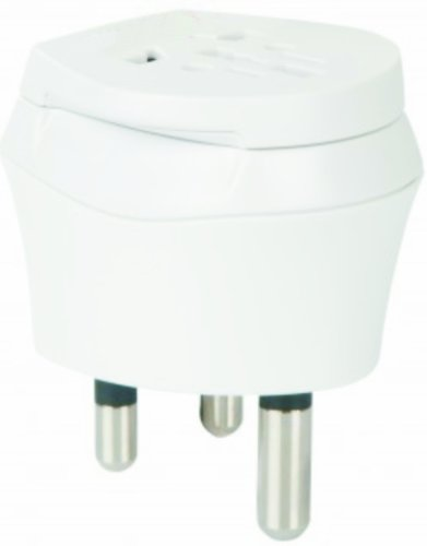 2 x Adaptateurs-welt break adaptateur secteur de voyage avec prise pour madère vers la république de madagascar prise euro 2 broches et 3 broches prise d'alimentation secteur-pT-(30 mG travel plug adapter madeira to madagascar)
