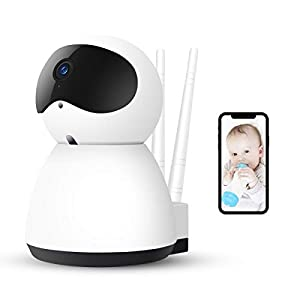 AOGE Baby Monitor with Camera, 1080P HD Security Home Wifi IP Camera with Two-Way Audio, Night Vision, Motion Detection, Pan/Tilt/Zoom for IOS, Android and Windows Device Remote View Lollipop ★【FAST AND EASY TO SET UP】Lollipop baby camera is compatible with both iOS and Android systems. So setting up the camera is fast and easy! Simply connect your baby camera to your phone using our app Lollipop. ★【ADVANCED NIGHT VISION】Worried about baby sleeping in his own room? Watch your baby at night with our advanced infrared night vision! ★【MULTI-STREAMING】Want to keep an eye on more than 1 kid? Watch everywhere at the same time with our multi-streaming feature! You can add as many cameras as want (Additional cameras sold separately). 7