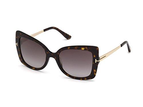 Tom Ford Unisex-Erwachsene FT0609 52T 54 Sonnenbrille, Braun (Avana Scura/Bordeaux Grad),