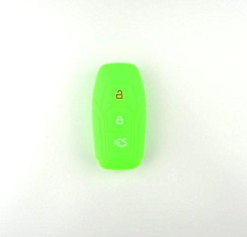 Brightparts® Silikon Schlüsseletui Hülle Etui Schlüssel Cover für Ford mit Power-Startfunktion oder Key Free-System (Grün)