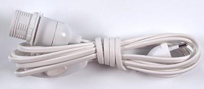 Anschlusskabel, Steckerleitung, Zuleitung 4 m, Lampen Kabel mit Schalter und Fassung - einzeln verpackt / Elektrozubehör