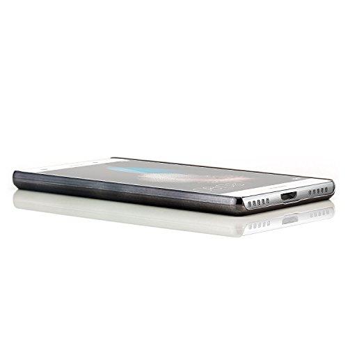 Saxonia iPhone 6 / 6S Plus Coque Case Premium Hard-Case Cover Housse Etui Protection Look Carbon (Design) Blanc Noir