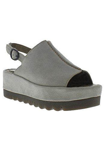 Fly London Womens BORA611FLY Platform Suede Sandals Grigio scuro