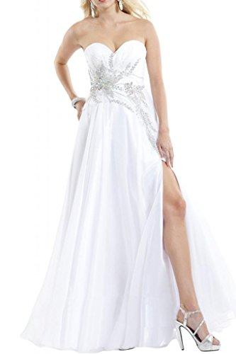 Toscane mariée ladiesfashion forme longue de soirée en chiffon abendkleider les demoiselles dhonneur ballkleider Blanc - blanc