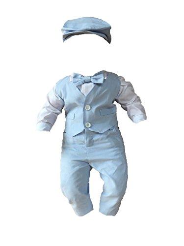 Taufanzug Festanzug Hochzeitanzug hell Blau Set 5 TLG (74)