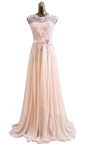 Sunvary Romantic Bateau collo, da donna, per abiti da sera, abiti per bambini Pageant Pearl Pink