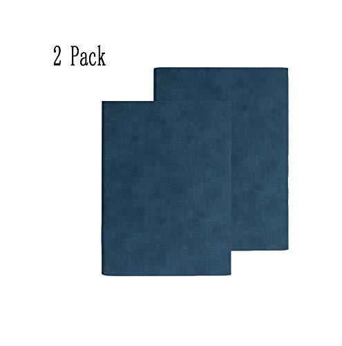 ZUEN 2er Pack Notizbücher und Tagebücher, A5 Extra Dickes Notizbuch Notizbuch Notizblock Seiten Leerseite Notizblock Retro Tagesplaner, Blau -