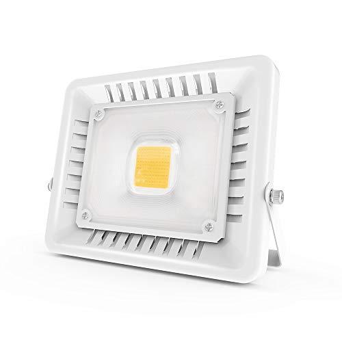 Anten Ultra Magro Faretto LED Esterno   50W Faretti LED   4500LM IP65 Impermeabile Faro LED Proiettore   Bianco Caldo Faro LED Esterni
