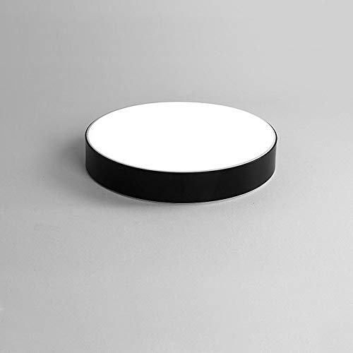 Lzpff Moderne einfache Art-Acryl runde LED kaltes weißes Licht 6000 K Deckenleuchte for Wohnzimmer Schlafzimmer Esszimmer Single Pack Schwarz 23 cm -