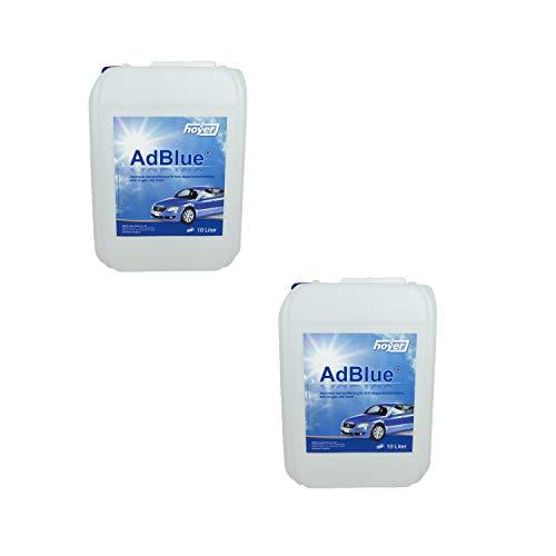 Hoyer AdBlue Hochreine SCR Harnstofflösung ISO 22241, 2x10 Liter -