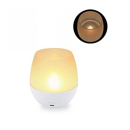 iederaufladbare Dimmbare LED Flammenlose Kerze Nachtlicht Blow Sensor Control Tee Lampe HVTKL ()