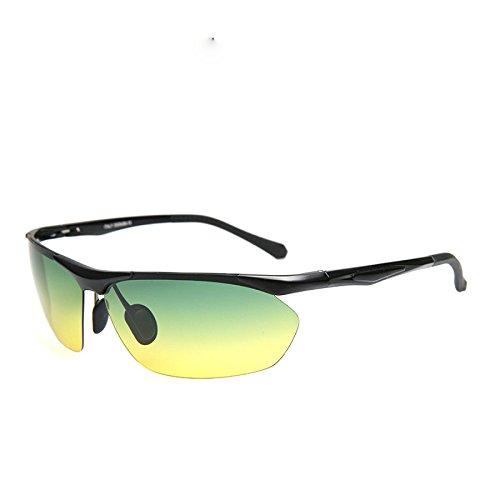 Männer Polarisierte Sonnenbrille Aerial Aluminium Rigs Tag Und Nacht Sport Reiten Montiert Brille,B