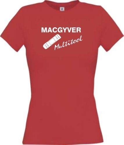 irt Mac Gyver Multitool Pflaster Funstuff, Farbe rot, Größe XL (Womens Fisch Kostüme)