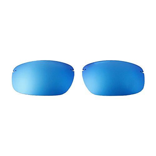Walleva Ersatzgläser für Maui Jim Kanaha Sonnenbrille - Verschiedene Optionen erhältlich, Unisex-Erwachsene, Ice Blue Coated - ISARC Polarized, Einheitsgröße