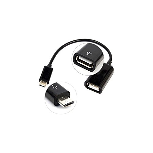 OTG Black Micro-USB to USB 2.0 Right Angle Adapter works for Samsung GTi9500 is High Speed Data-Transfer Cable for connecting any compatible USB Accessory//Device//Drive//Flash// and truly On-The-Go!
