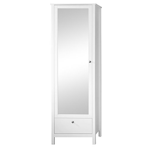 Trendteam Garderobe Garderobenschrank Schrank Ole, 62 x 192 x 38 cm in Weiß mit Schubkasten und...