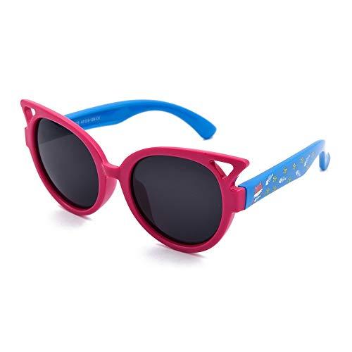 Mojinglin occhiali da sole per bambini occhiali da sole in plastica polarizzati per ragazze, occhiali da sole per bambini, h