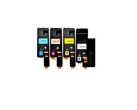 Dell 1250 LOT de 4 compatibles toner cartouches pour DELL 1250c, 1350cn, 1350cnw, 1355cn, 1355cnw, C1760nw, C1765nfw, C1765nf, C17XX imprimantes