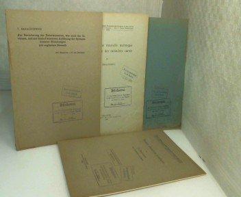 Konvolut von 4 Sonderdrucken aus den Jahren 1937/38 in französischer oder deutscher Sprache.