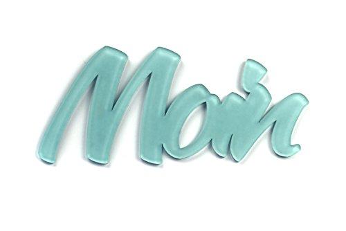 """3D Wandtattoo """"Moin"""" aus Acryl, selbstklebend Türschild, Wanddeko, Geschenk, Made in Germany (sozial & nachhaltig)"""