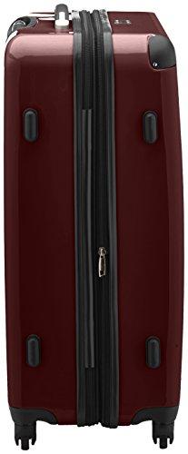 HAUPTSTADTKOFFER - Alex - Hartschalen-Koffer Koffer Trolley Rollkoffer Reisekoffer Erweiterbar, 4 Rollen, TSA, 75 cm, 119 Liter, Burgund - 3