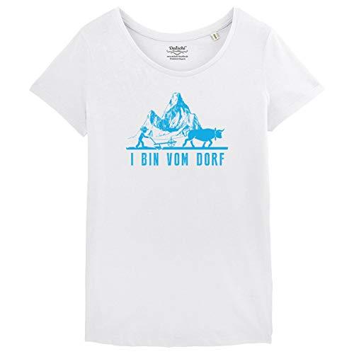 Bayrisches Damen Trachten T-Shirt I Bin VOM Dorf -