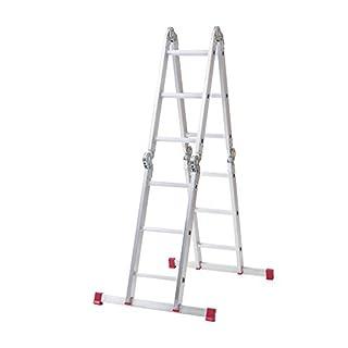 Abru 12 Way Multi-Purpose Combination Ladder with Platform, Heavy Duty 150Kg Load Capacity, EN131 certification, 5 Year Guarantee