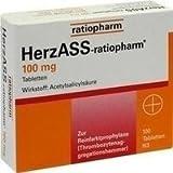 Herzass Ratiopharm 100 mg Tabletten 100St by HERZASS