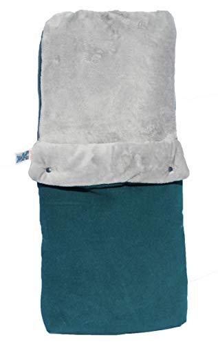 Imagen para Haim baby Saco de dormir universal, adaptable para capazo, cuna y porta-bebés. Unisex, En varios colores y tamaños. (Verde/gris, Talla 2 (3-6 kg))