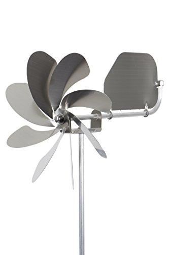 steel4you A1004 Windrad Windmühle Speedy20 plus aus Edelstahl (20cm Rotor-Durchmesser), kugelgelagert, mit Windfahne (360° Grad drehbar) - made in Germany