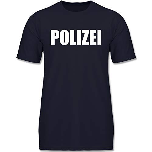 Karneval & Fasching Kinder - Polizei Karneval Kostüm - 116 (5-6 Jahre) - Dunkelblau - F130K - Jungen Kinder - Polizei Kostüm Boy