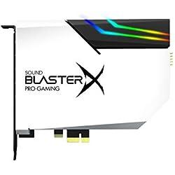 Sound BlasterX AE-5 Carte Son PCIe Gaming Haute résolution, DAC/Amplification des Casques (16-600 Ohms), avec Une Bande LED RGB Incluse pour Transformer visuellement Votre Ordinateur