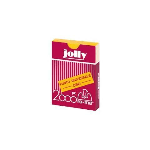 RO-MA confezione da 10 pezzi - scatola 1000 punti jolly oro 6/4 ro-ma