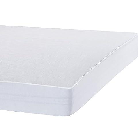 Bedecor Protège Matelas Imperméable et Respirante de Blanc Flanelle(160x200 - 160x190 cm)