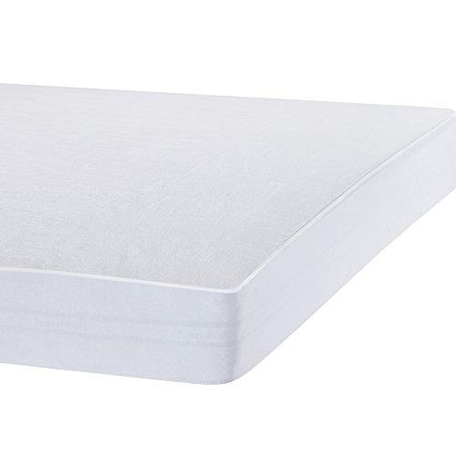 Bedecor Protège Matelas Imperméable et Respirante de Blanc Flanelle(90x200-90x190 cm)