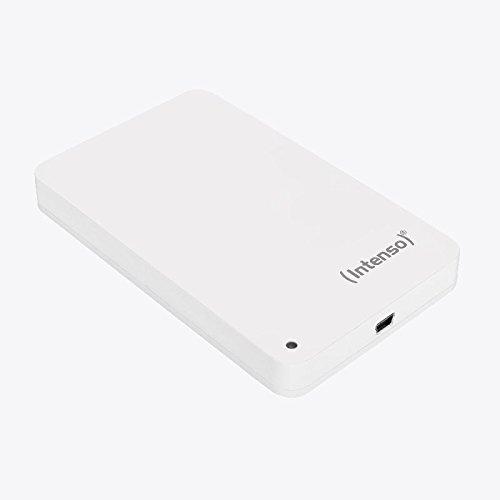 Intenso Memory Station 500 GB Externe Festplatte (6,35 cm (2,5 Zoll) 5400 U/min, 8 MB Cache, USB 2.0, USB-Y Kabel) weiß